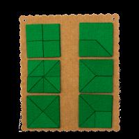 Прозрачный квадрат Ларчик (ковролин, зеленый цвет)