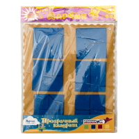 Прозрачный квадрат Ларчик (ковролин, синий цвет)