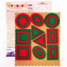 Огоньки Ларчик (ковролин, красно-зеленый)